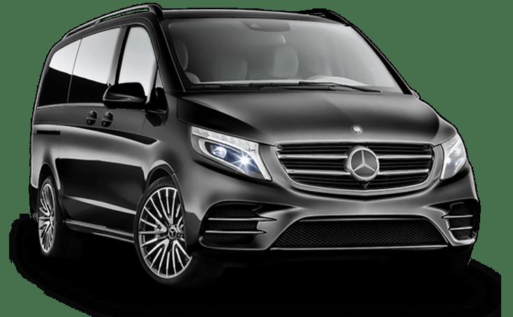 Mietwagen Mercedes V Automatik 8 pax - Autovermietung. Red Line Rent a Car.